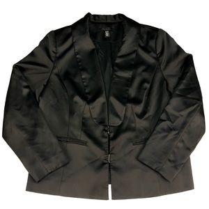 Kenneth Cole Womens Satin Blazer Tuxedo Jacket 16W